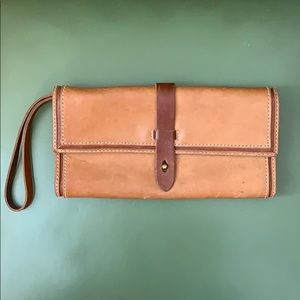 Madewell leather clutch/wristlet